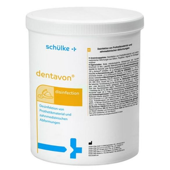 Dentavon 900g/vödör lenyomatfertőtlenítő granulátum