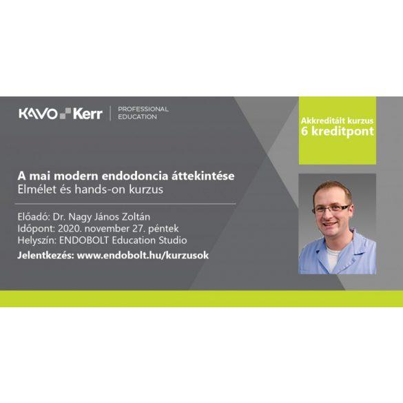 2020.11.27. - A mai modern endodoncia áttekintése - ONLINE KURZUS - 6 kredit pont