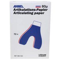 Artikulációs papír, kétoldalas, U-alakú 80 mikron