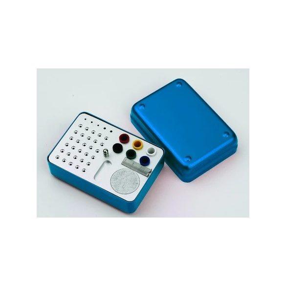 Endobox bemérővel szögletes (kék)