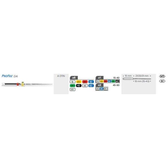 Profile .04 21-25-31mm (6db)