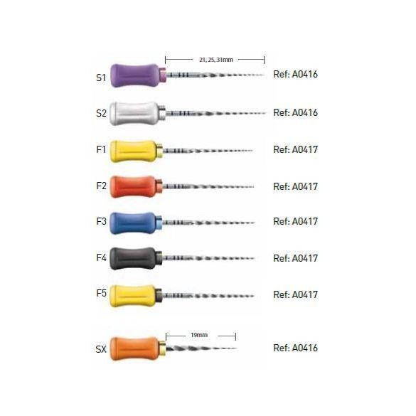 Protaper Universal kézi SX-F5 21-25-31mm (6db)