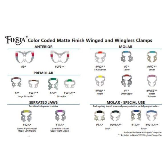 HYGENIC FIESTA színkódolt kapocs készlet (9db)
