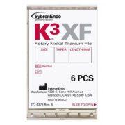 K3XF Ni-Ti Procedure pack  ISO 020-040 .06-.08-.10 (6db)