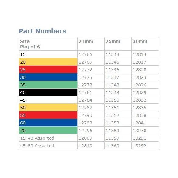 Hedstroem files ISO 015-040 21-25-30mm (6db)
