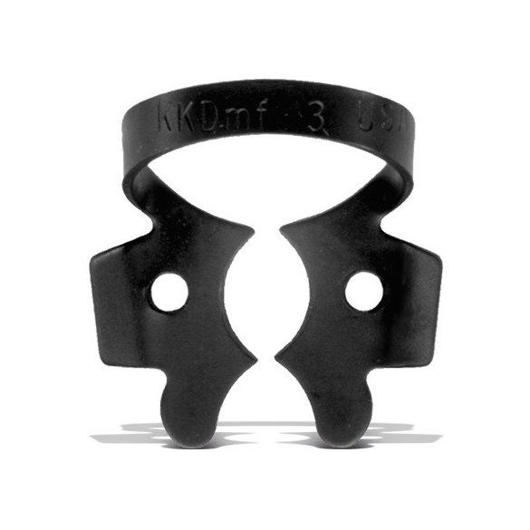 Kofferdam kapocs moláris # 3 matt fekete