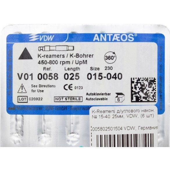 K-Reamers gépi tágító 25mm (6 db)