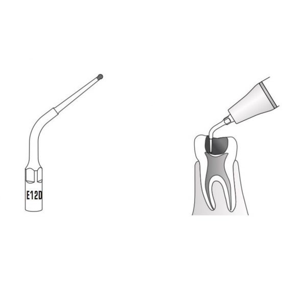 E12D endodonciás depurátor fej