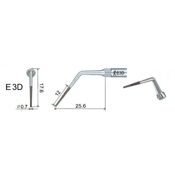 E3D endodonciás depurátor fej