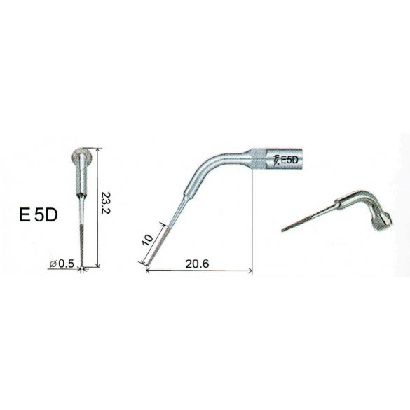 E5D endodonciás depurátor fej